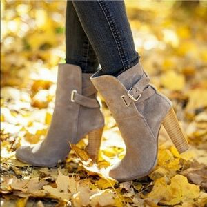 Dolce Vita Taupe Suede Midi Boots Size 8
